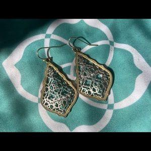 Kendra Scott Addie Gold Drop Earrings in Silver